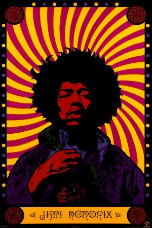 Jimi Hendrix Psychedelic - High Quality Poster