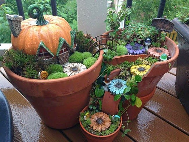 Broken Pots Turned Into Beautiful Fairy Gardens | My99Post | Funniest Fail Pics | Motivational Posters.