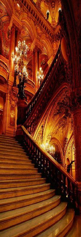 Theatre De L'opera, Opera House staircase, Paris