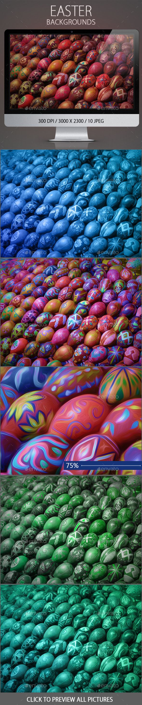 Easter #Backgrounds - Nature Backgrounds Download here: https://graphicriver.net/item/easter-backgrounds/10643931?ref=alena994