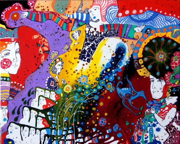 """""""Незабудки"""" 40х50, холст, акрил. Работа художника Наталии Пастушенко, авторская техника. Контакт с автором по вопросам приобретения прав на публикацию или покупки оригиналов - pastuszenko@gmail.com"""