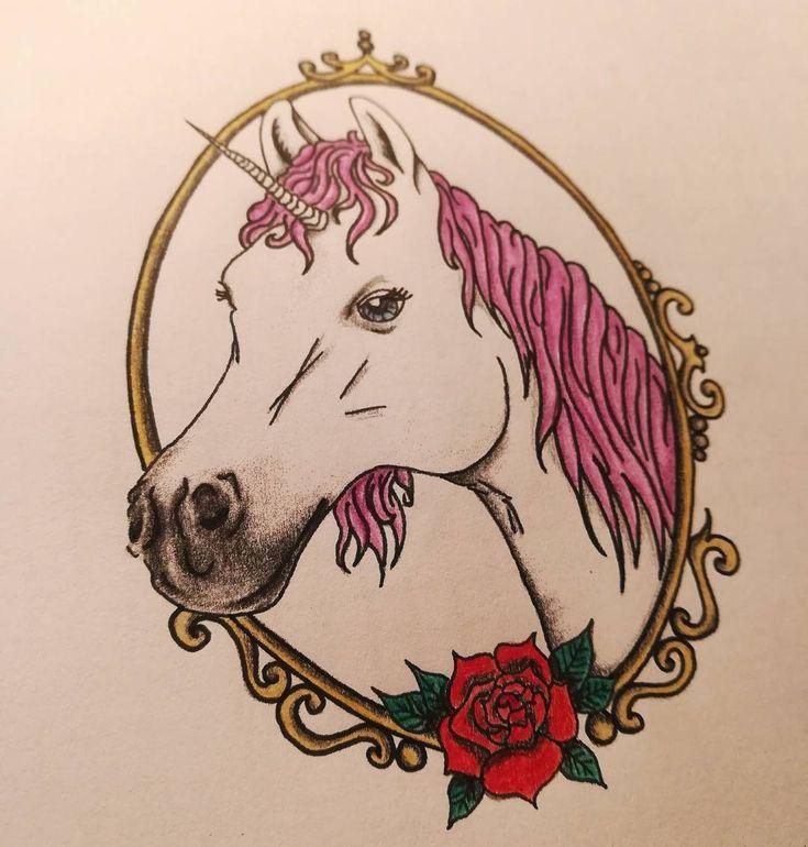 Und noch einmal in bunt #unicorn #einhorn #tattoo #tattooideas #tattooideen #dra…,  Und noch einmal in bunt #unicorn #einhorn #tattoo #tattooideas #tattooideen #drawing #zeichnung #unicorntattoo #horse #horsetattoo Source…, #Tattoo #Ideen #Design #Tätowierung