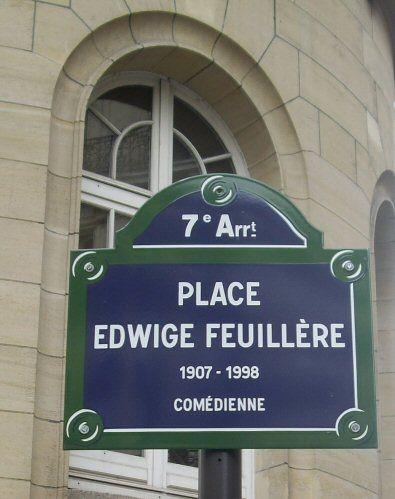 La place Edwige-Feuillère  (Paris 7ème)