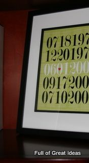 Special Dates Framed; How to...