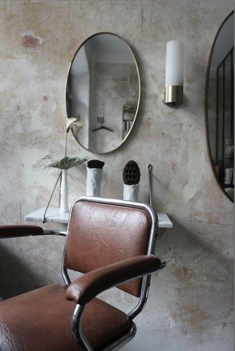 Chairman wall lamp   Rubn. Design Niclas Hoflin. Hair salon by Entre Les Murs. Photo by Angele Vuillet