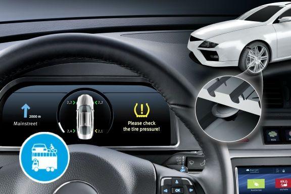 Grazie ad innovativi sensori di controllo della pressione, adesso sono gli stessi pneumatici che ci segnalano direttamente sul display dell'auto quando sono sgonfi o hanno un calo anomalo di temperatura a tutto vantaggio della sicurezza!...