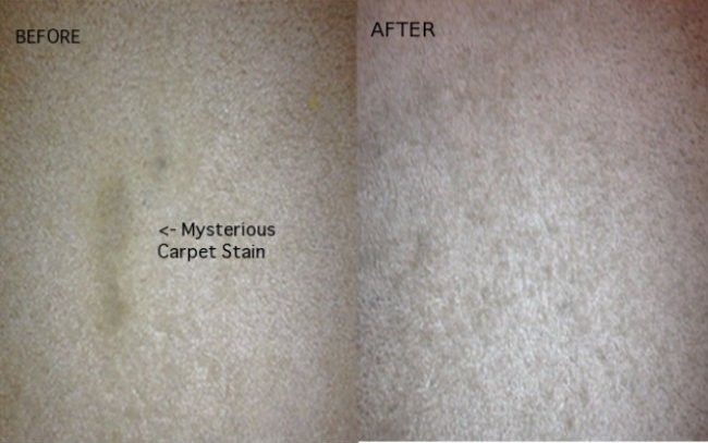 20.) Carpet Stain Lifter. Take a mixture of two parts water, one part vinegar, and spray on the stain. Lay a damp rag over the top, and iron it. The result? BOOM.