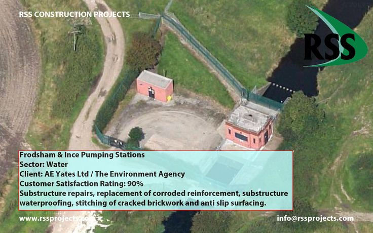 Substructure Repairs, Replacement of Corroded Reinforcement, Substructure Waterproofing, Stitching of Cracked Brickwork and Anti Slip Surfacing. http://www.rssprojects.com/Case Studies/frodsham-ince-pumping-stations