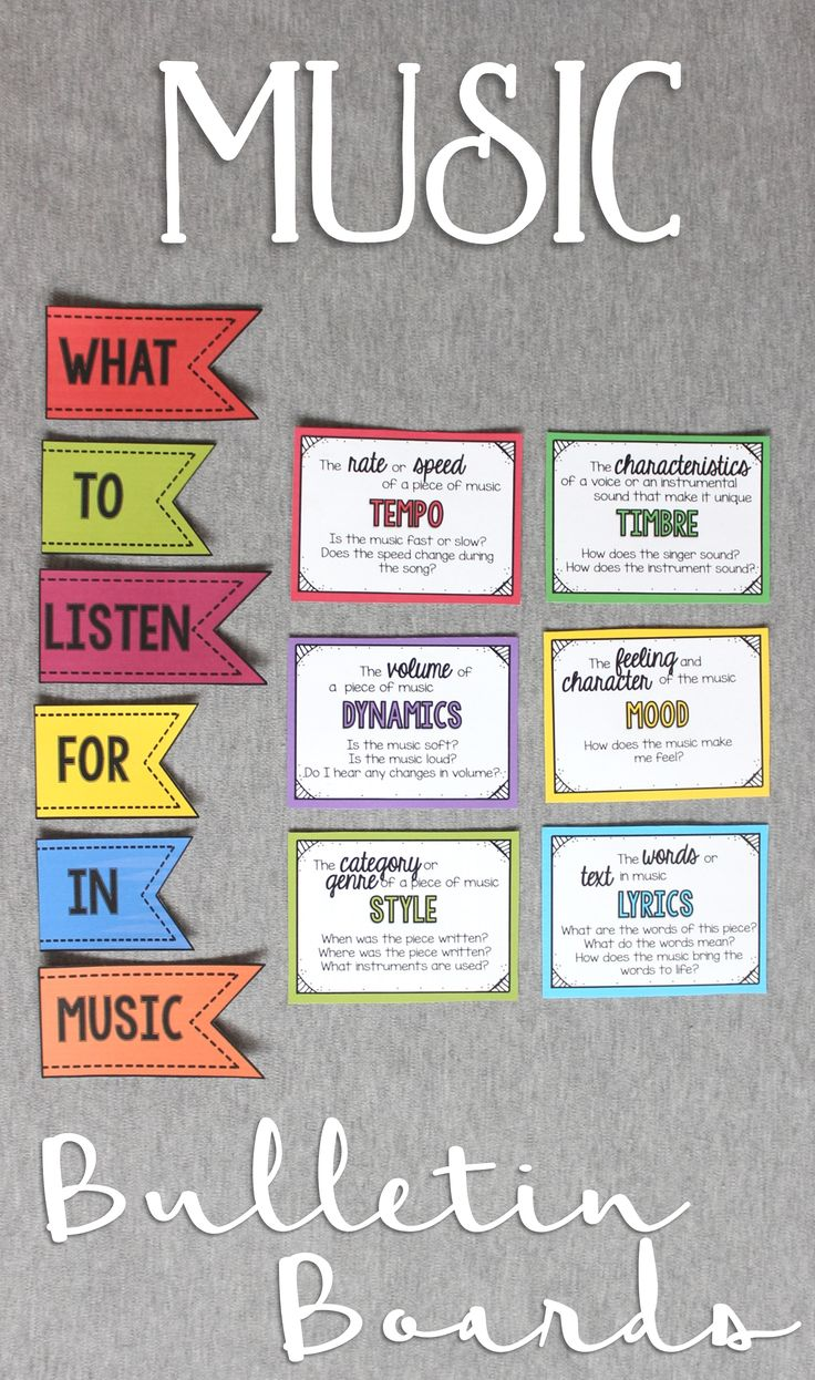A giant collection bulletin board ideas for the music classroom!!
