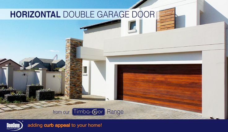 Going for contemporary? The meranti Horizontal Style Double garage door from our Timba-dor™ Range, will add the contemporary look you are going for. Give us a call to purchase your new door and add the d-force™ Automatic Overhead Garage Door Opener to your garage door purchase. www.doorzonesa.com