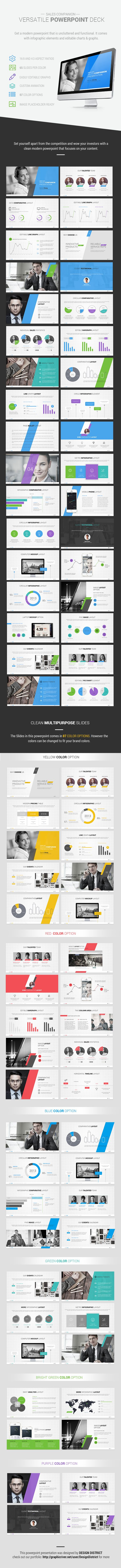 Accentuate Modern Powerpoint  by Design District, via Behance