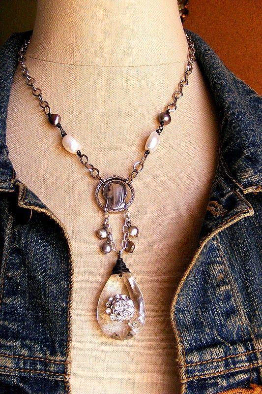 ❥ Vintage Assemblage Necklace