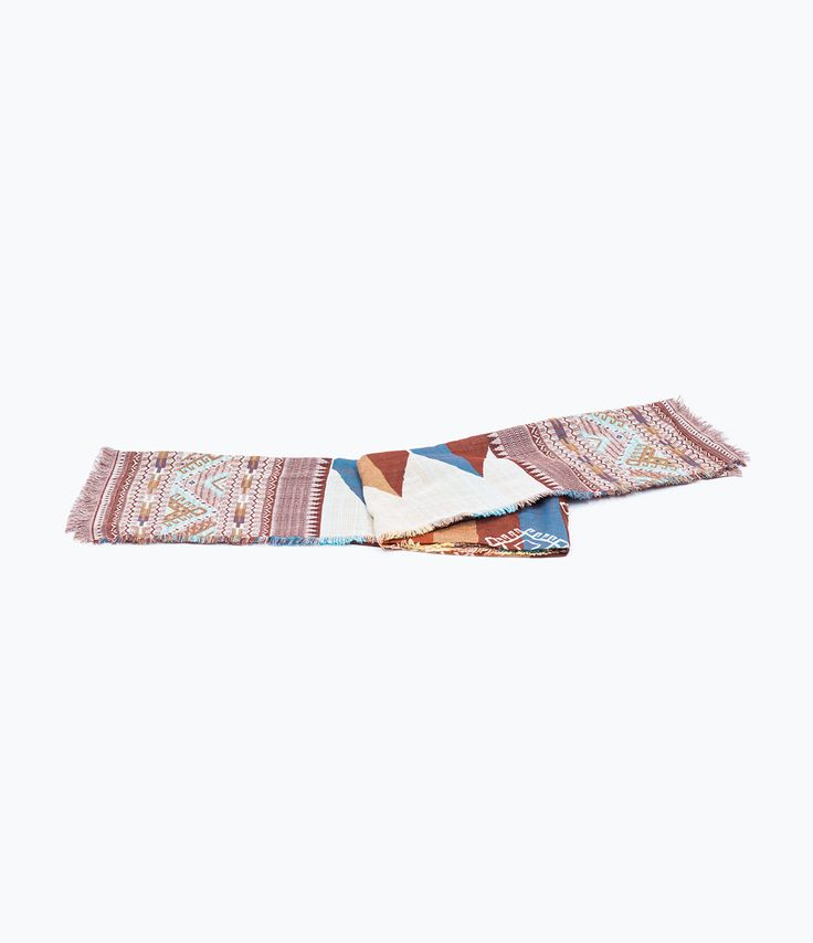 ZARA - WOMAN - MULTICOLORED SILK SCARF