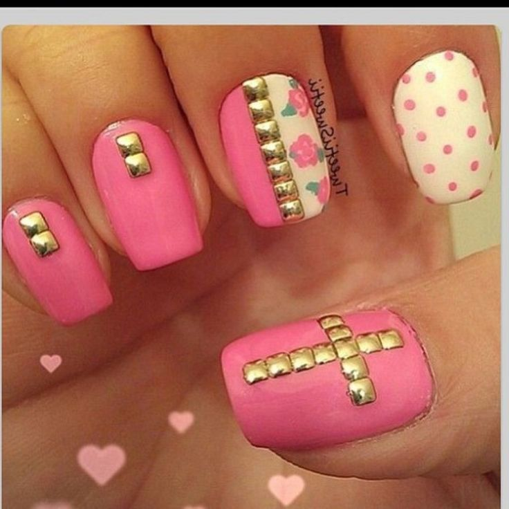 Best 25 nail designs tumblr ideas on pinterest tumblr nail art love the studds cross nail designsfrench prinsesfo Choice Image