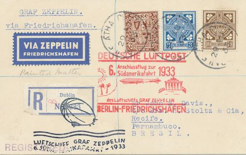 6th zeppelin flight to south america #postalhistory #philately #stamps