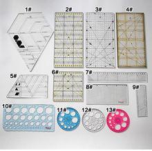 DIY Costura лоскутное швейная фурнитура инструменты лоскутное правитель правителя шов швейная стопы Многофункциональный ручной инструмент(China)