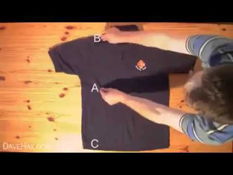 How to fold a shirt in less than 2 seconds. Where has this been all my life? Seriously trying this later.