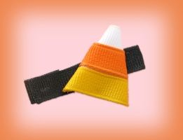 How To Make Candy Corn Hair Bow Clip? also use all black to make a witches hat!