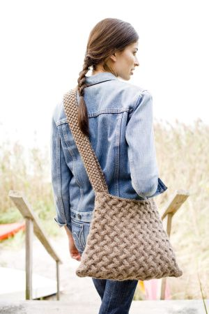 This knit Around Town Bag is perfectly suited to bring to the open farmer's market.