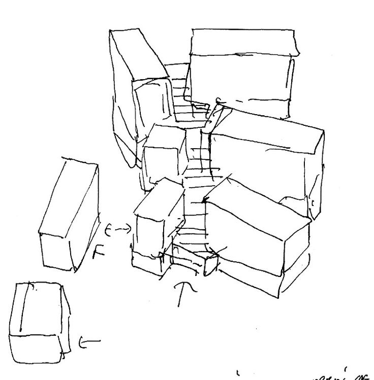David Chipperfield's City of Justice - Sketch
