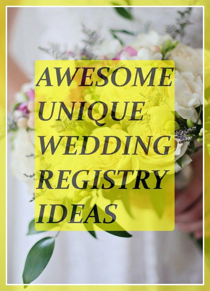 Auf der Suche nach einzigartigen Ideen für die Hochzeitsliste? Lesen Sie diese Tipps, die Sie wissen müssen, bevor Sie …   – Unique Wedding Registry Ideas