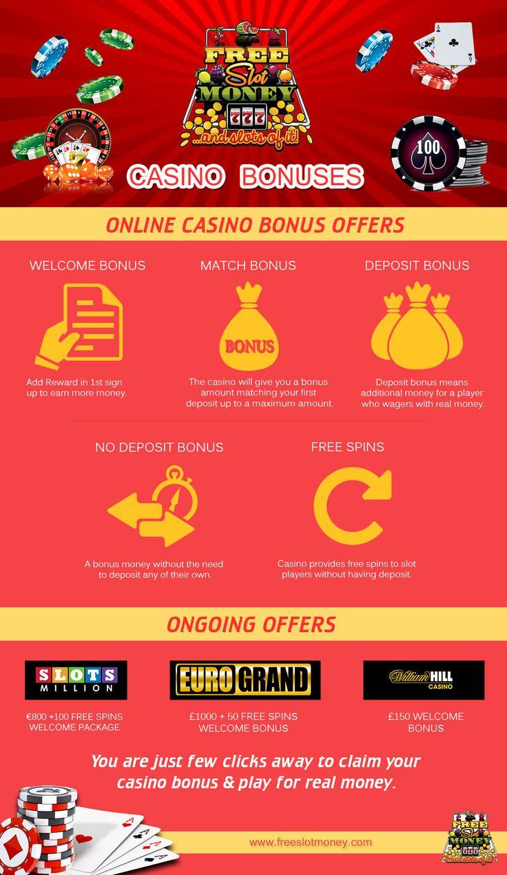 Online Casino Bonus Offers  Free Slot Money   Casino Infographics: #casino #slots #blackjack #bonus #KajotBabes