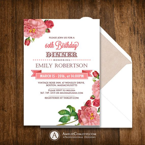 Best 25+ Birthday dinner invitation ideas on Pinterest Guy - printable dinner invitations