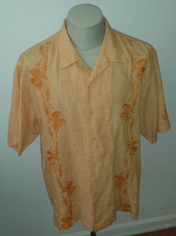Up for sale is a nice tommy bahama l embroidered colonial crown plaza invitational shirt with golf designs embroidered on front. No holes, tears, or stains. Missing size tag. Shirt measures 31 from base of collar to tail, and 25 from armpit to armpit. I acceptpaypal only, and payment is due immediately at auction end. I ship free to theus only, and will ship out next day after receiving cleared payment. International shipping is processed throughthe ebay global shipping program. Pleasefeel…