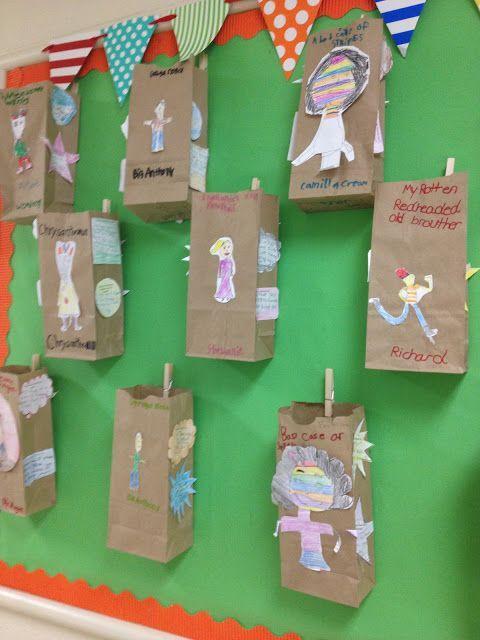 Character traits - paper bag activity