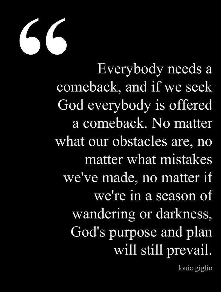 Everybody is offered a comeback - Louie Giglio