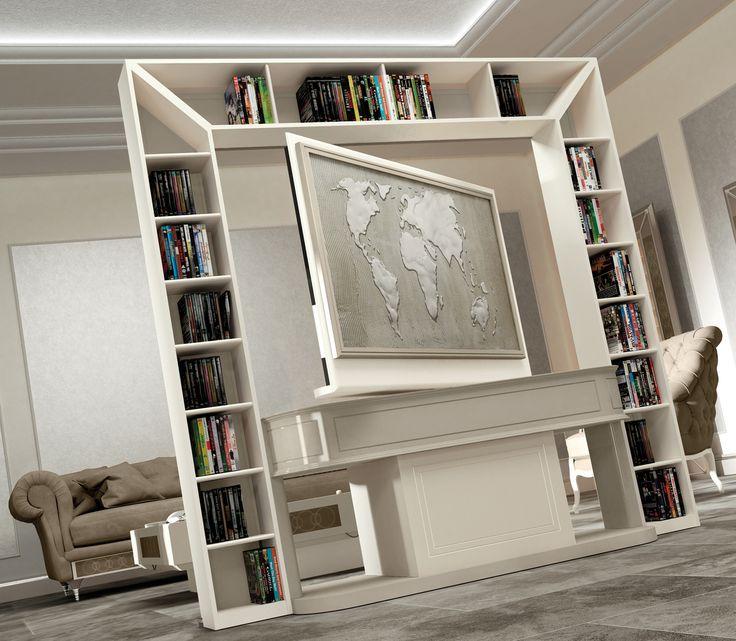 Oltre 25 fantastiche idee su porta tv su pinterest - Pannello porta tv orientabile ...