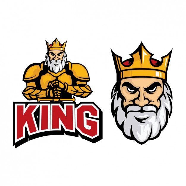 Coloured king logo design Free Vector
