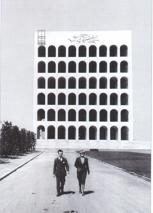 palazzo della civilta italiana, rome, italy. by giovanni guerrini, ernesto bruno la padula and mario romano
