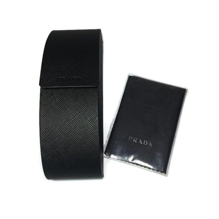 PRADA Black Eyeglass Sunglass Hard Case ONLY w/Cloth  | eBay