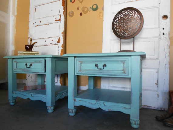 Best Vintage End Tables Images On Pinterest End Tables - Trendy painted furniture