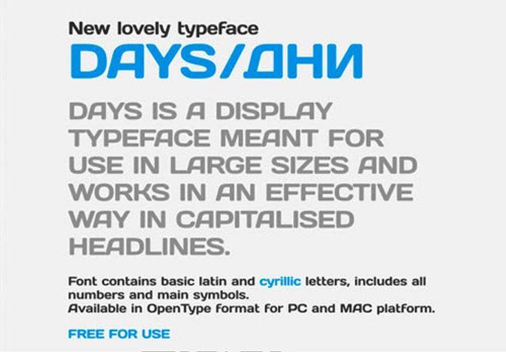 Days  Font Cantik Free Download Gratis