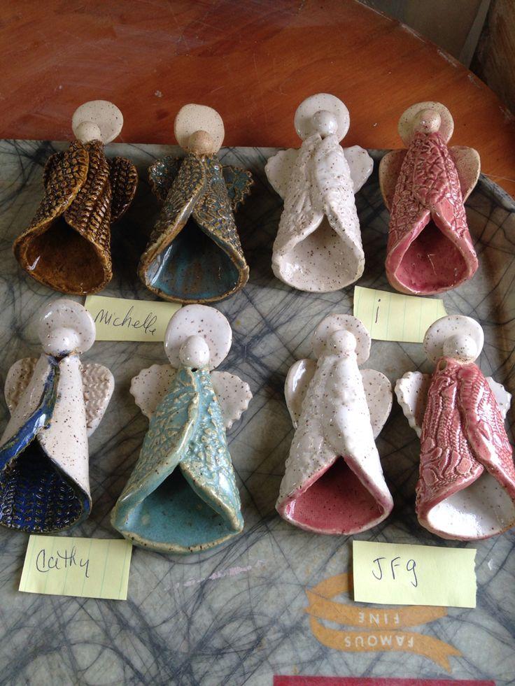 Pottery Workshop w/Karen Lucid. Angel Ornaments .