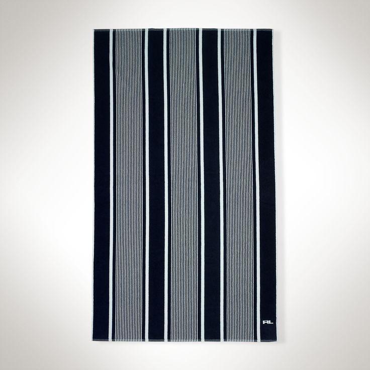 Margaux Striped Beach Towel - Bath & Beach Towels  Bath - RalphLauren.com