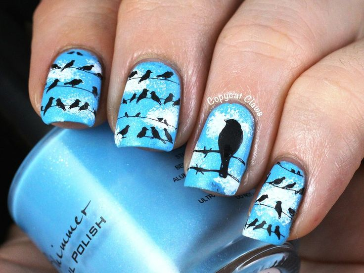 Who Would Like To Have These Adorable Bird Nail Arts? | Stylish Board - The 25+ Best Bird Nail Art Ideas On Pinterest Divergent Nails