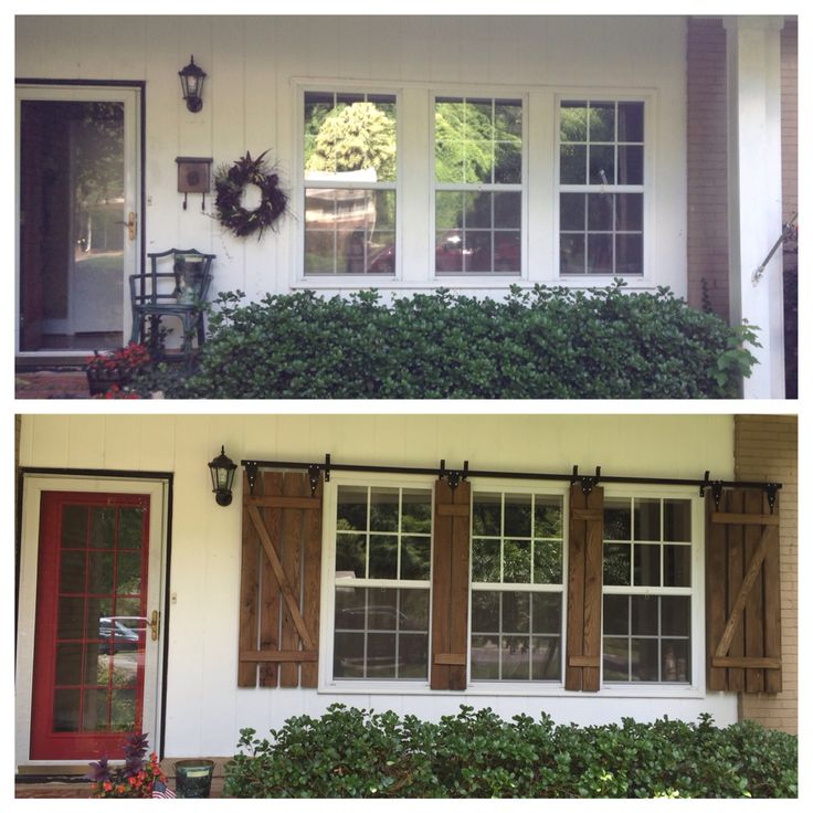 Before And After Curb Appeal Improvement By Adding Custom