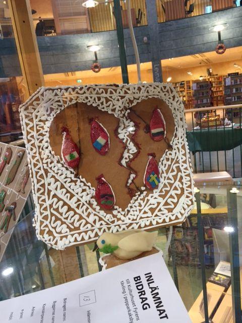 pepparkaksbygge flaggor Gingerbread
