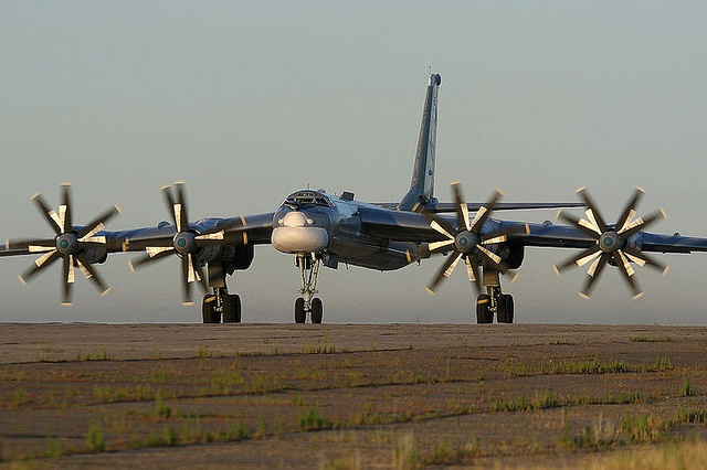 Tupolev Tu-95/142 (NATO codename Bear-F). four-engine turboprop-powered maritime reconnaissance/anti-submarine warfare aircraft. Its contro-rotating blades, which rotate faster than the speed of sound make it arguably the noisiest military aircraft on earth.