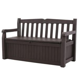 Keter Eden 70 Gal. Bench Deck Box in Brown 213126 at The Home Depot - Mobile