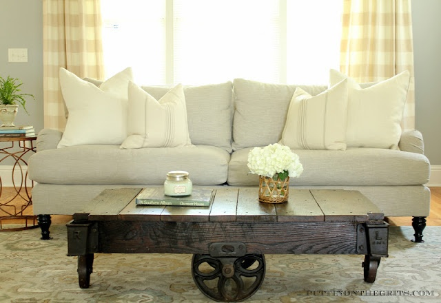 English Roll Arm Sofa French Pillows Factory Cart Coffee