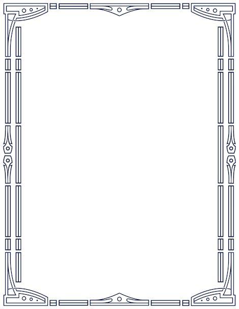 Printable art deco border. Free GIF, JPG, PDF, and PNG ...