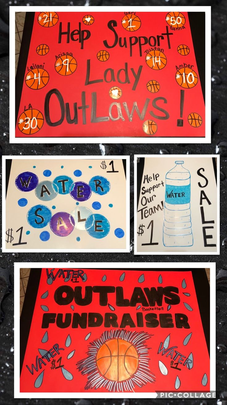 Water Sale Fundraiser Poster Ideas