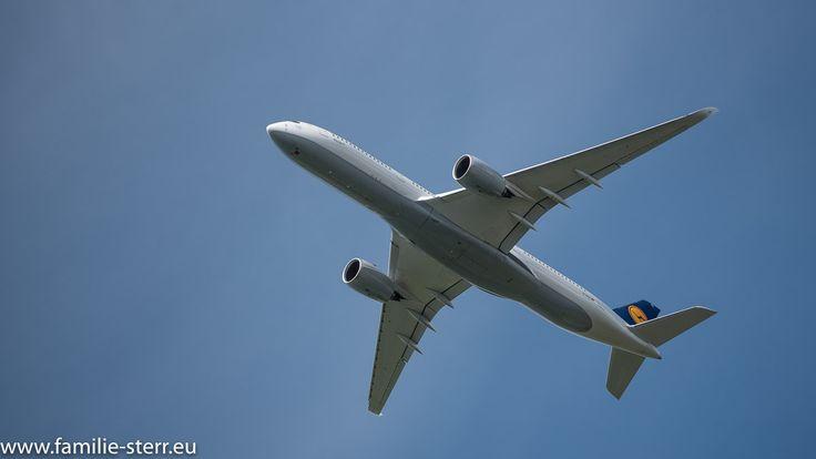 """Lufthansa - Airbus A350-941 D-AIXC """"Saarbrücken"""" startet am Flughafen München"""