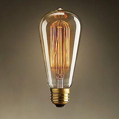 60w estilo retro industria bombilla incandescente – EUR € 8.24 Con una lampara de araña o para un despacho.