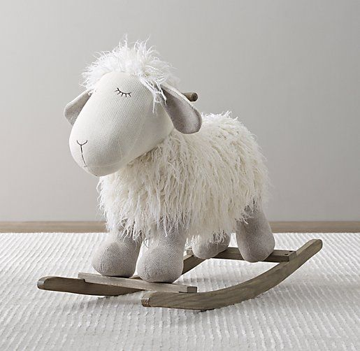 wooly plush rocking animal. a welcome playtime companion. #rhbabyandchild