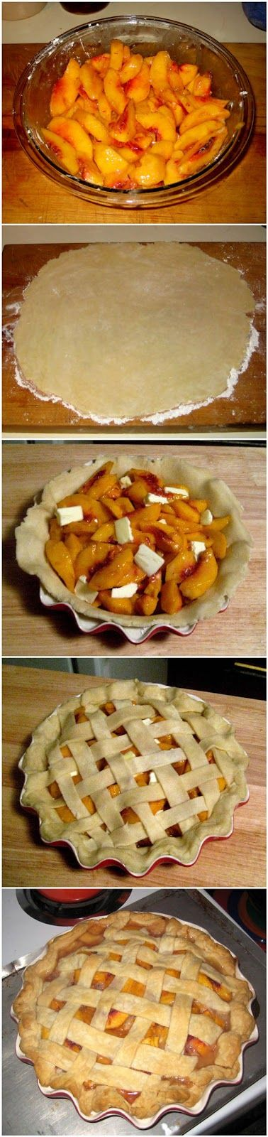 Delicious Peach Pie - I will probably save time by using ready made pie crusts.